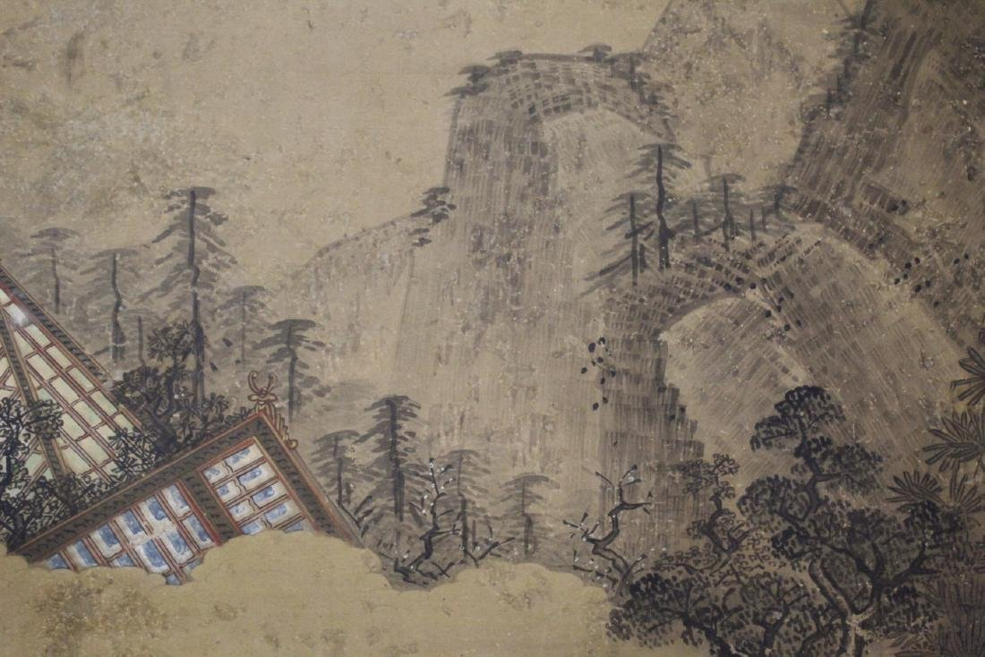 Antique Chinese watercolor on paper - 7