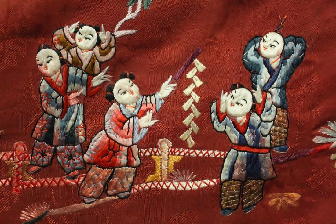 Chinese antique embroidery panel - 10