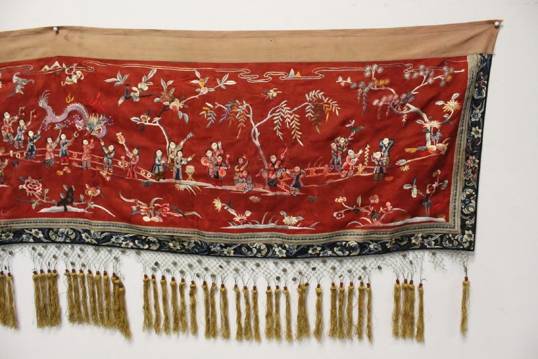 Chinese antique embroidery panel - 2