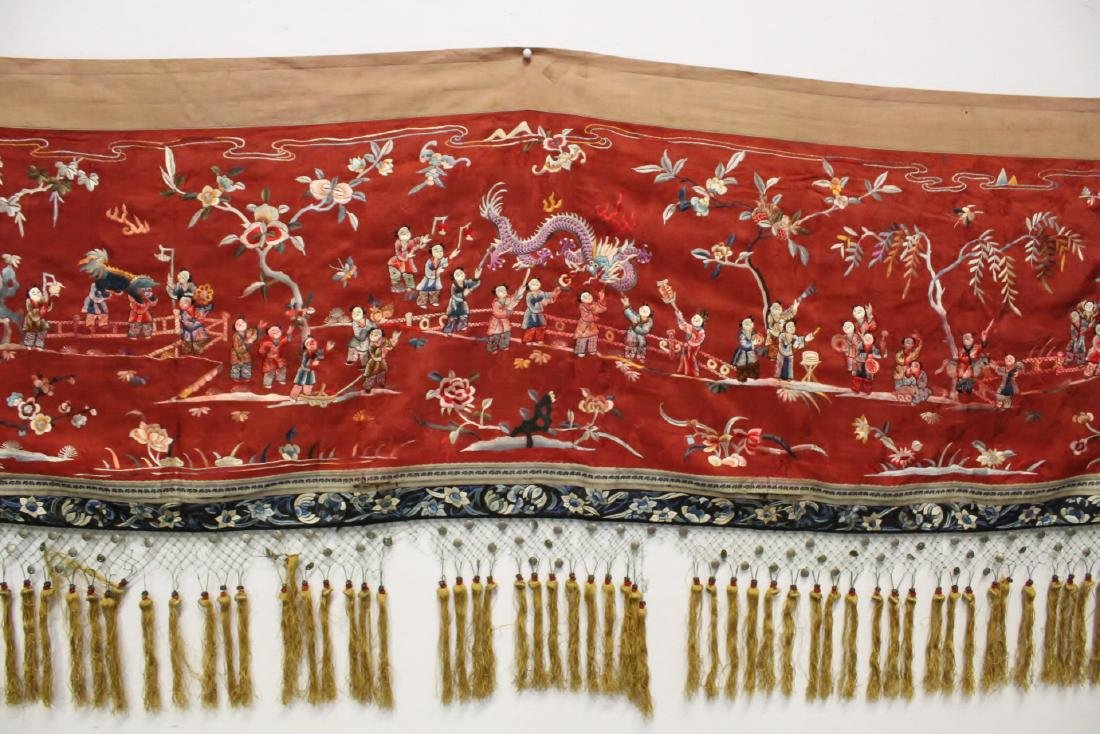 Chinese antique embroidery panel - 3