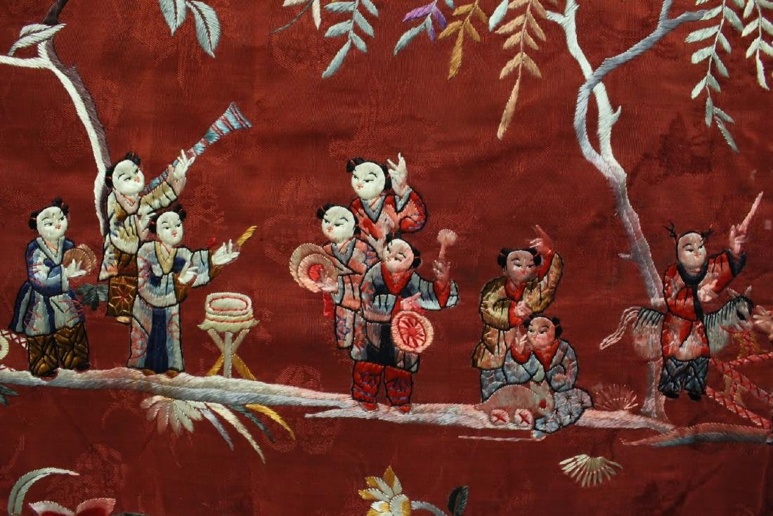 Chinese antique embroidery panel - 8