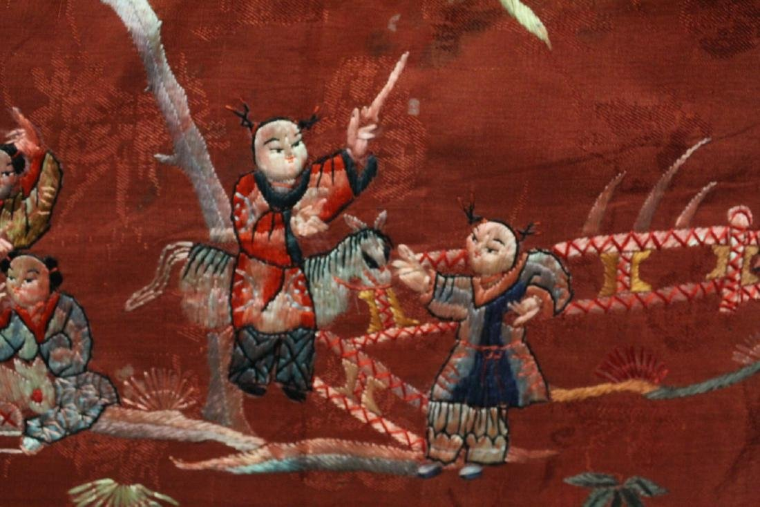 Chinese antique embroidery panel - 9