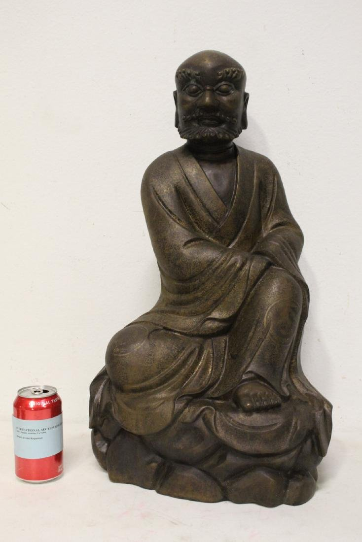 Chinese large bronze sculpture of Lohan