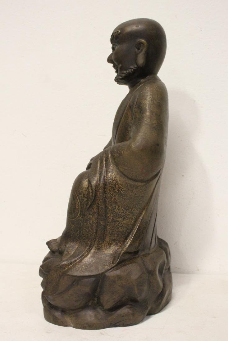 Chinese large bronze sculpture of Lohan - 2
