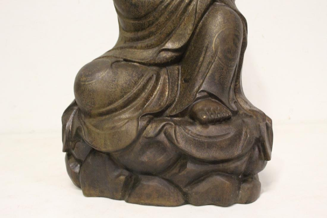 Chinese large bronze sculpture of Lohan - 8