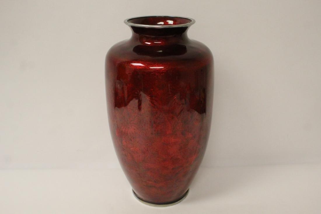 Unusually large Japanese cloisonne vase - 5