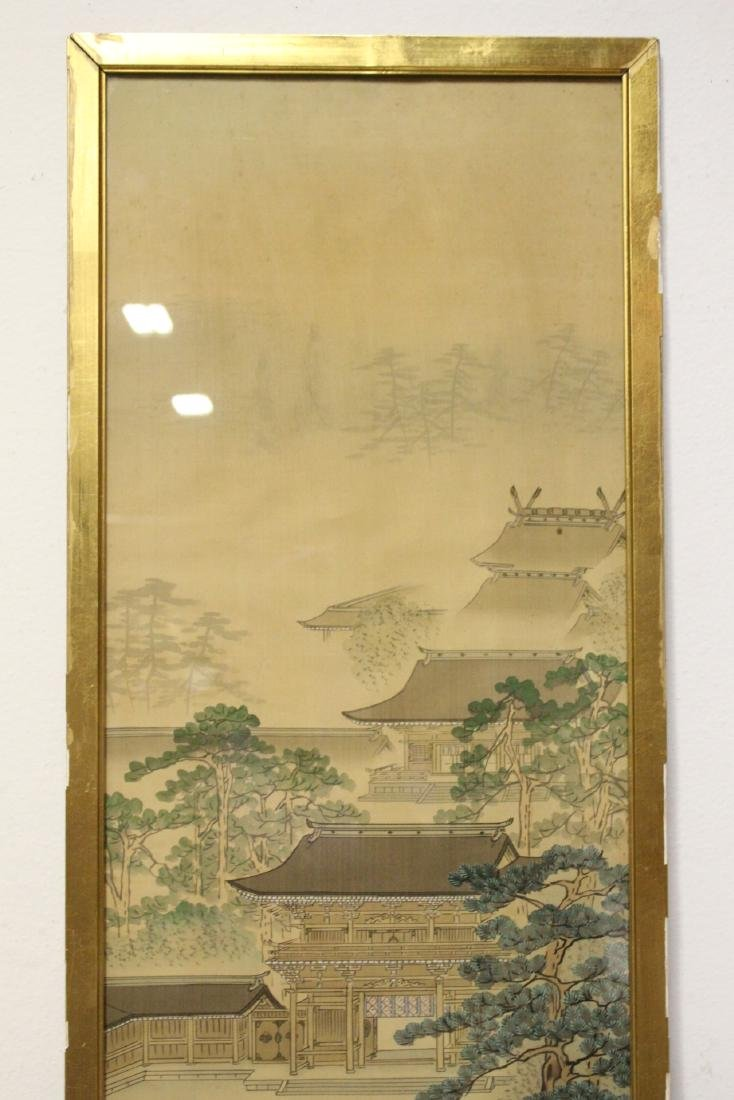 2 Chinese framed watercolors, and a print - 6