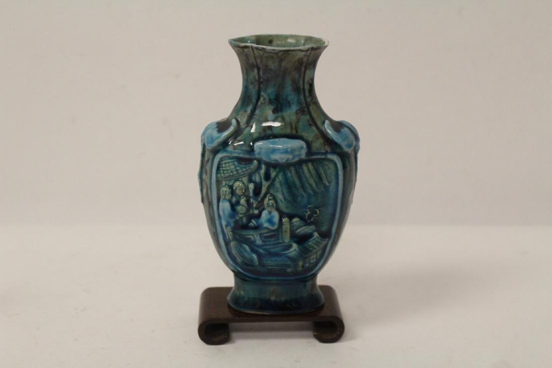 5 small vintage porcelain vases - 3