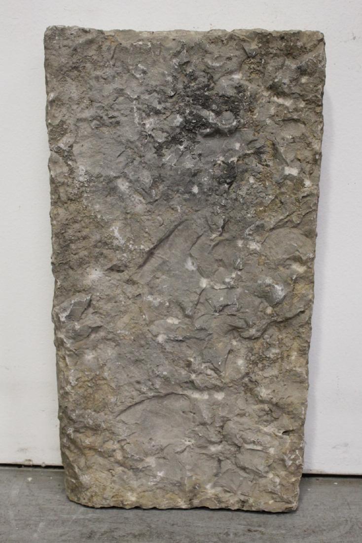 A stone plaque - 9