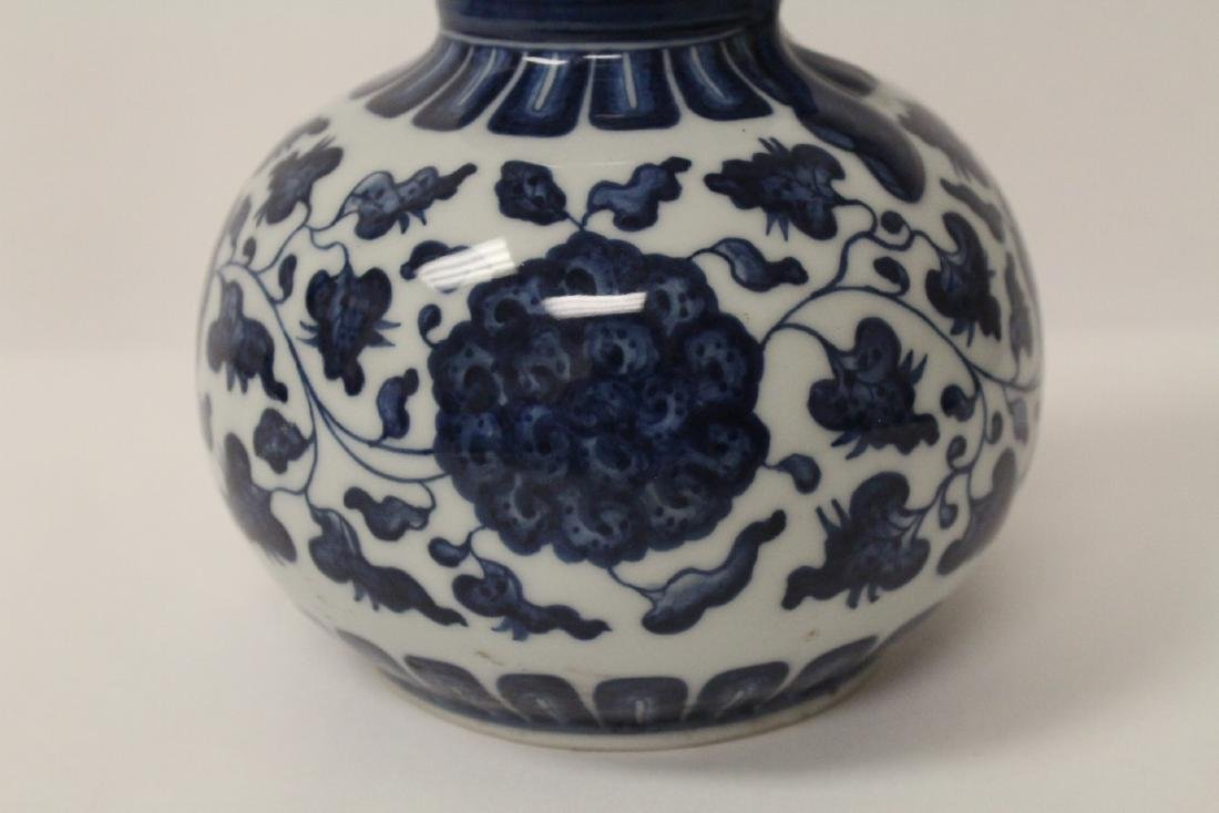Chinese blue and white gourd shape vase - 6