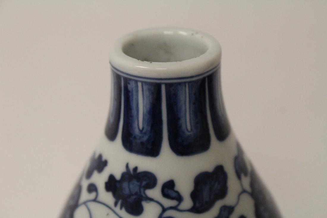 Chinese blue and white gourd shape vase - 8