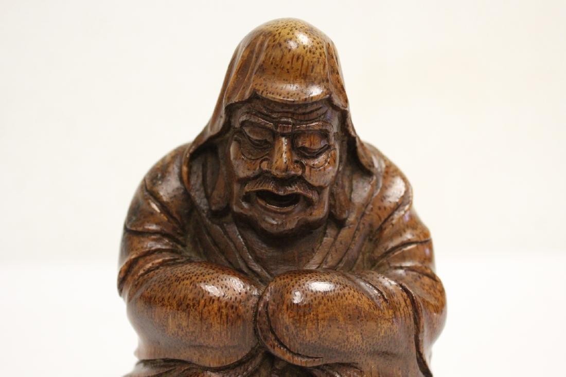 Very nice Chinese bamboo carved figure - 6