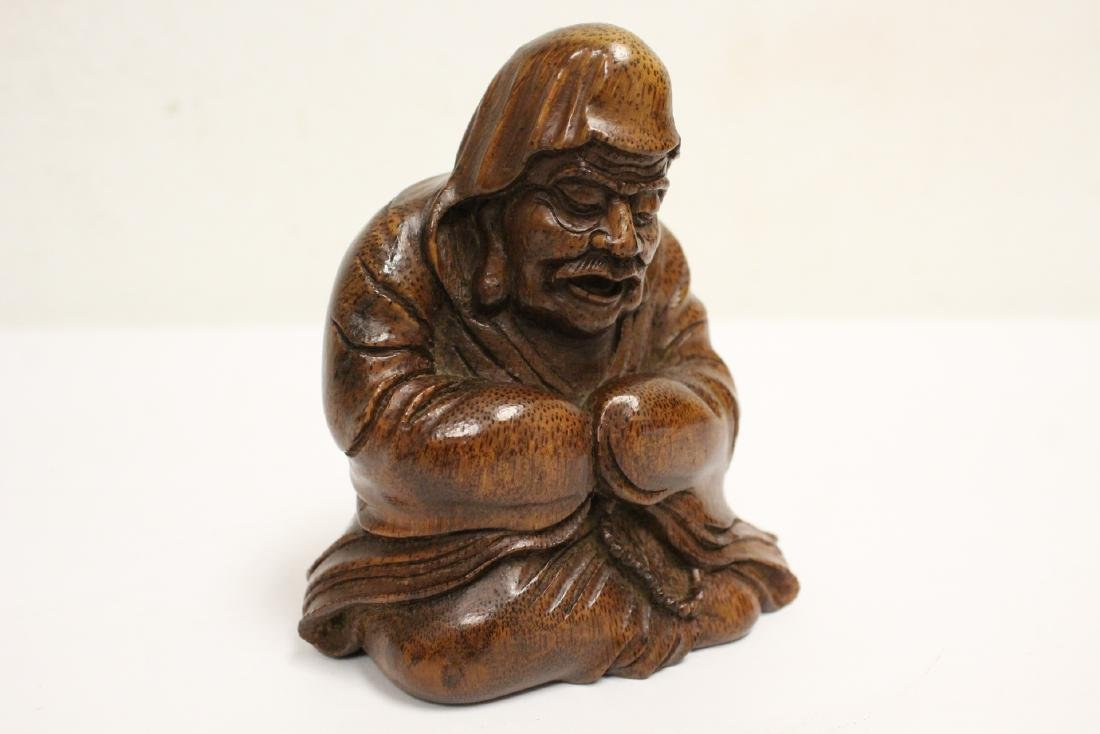 Very nice Chinese bamboo carved figure - 9