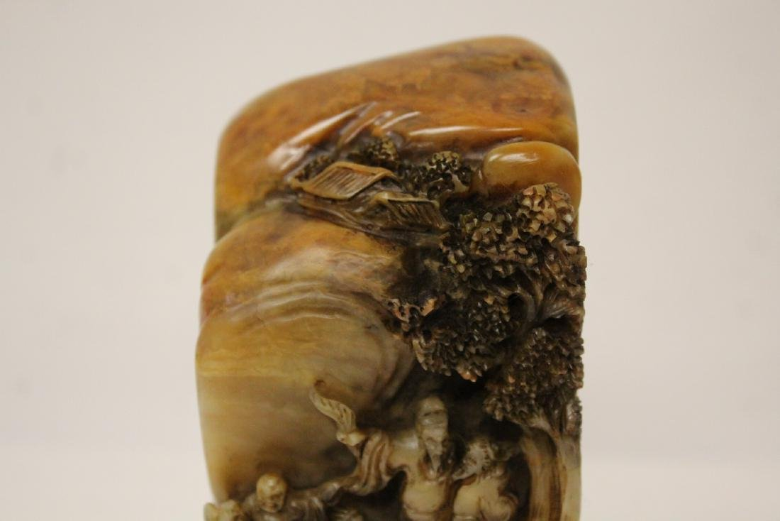 A beautifully carved shoushan stone seal - 5