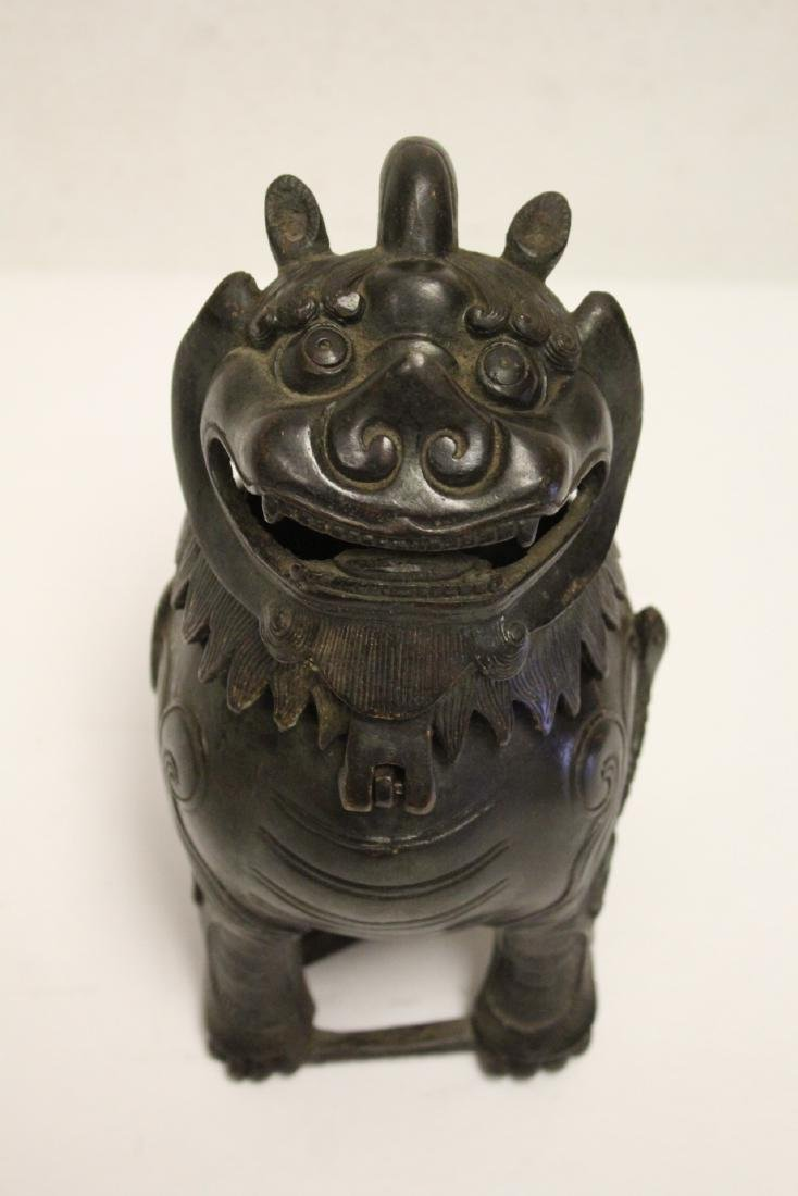 Chinese bronze censer in the form of qilin - 2