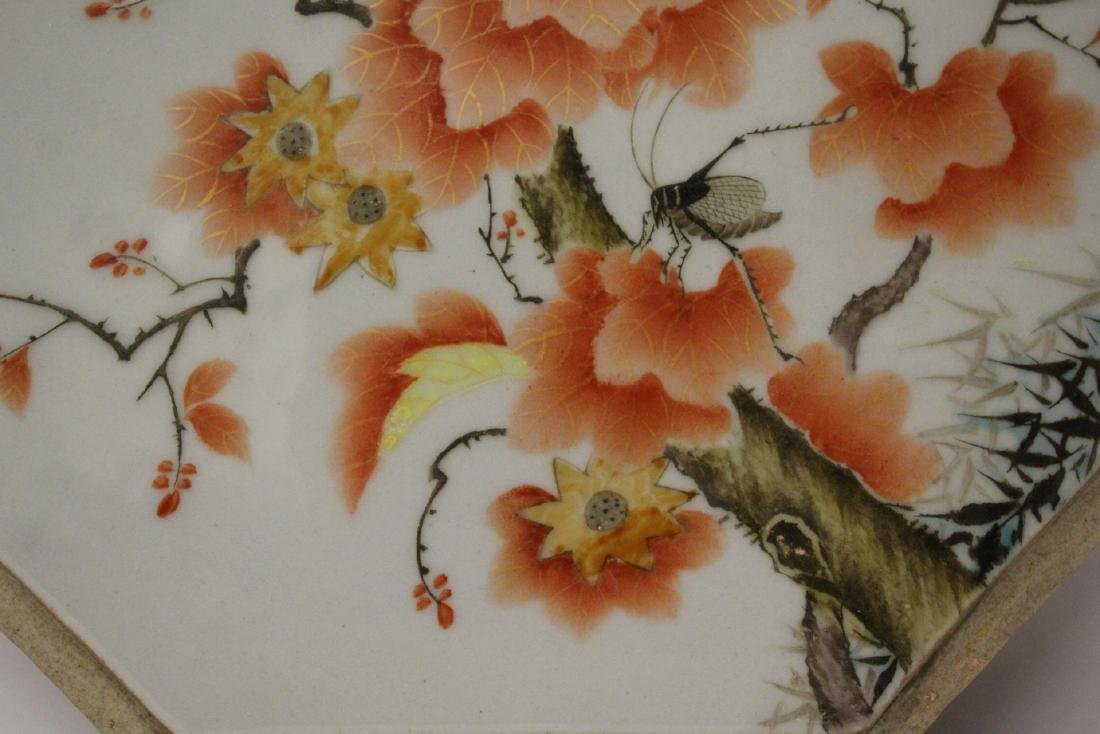 Chinese octagonal porcelain plaque - 7