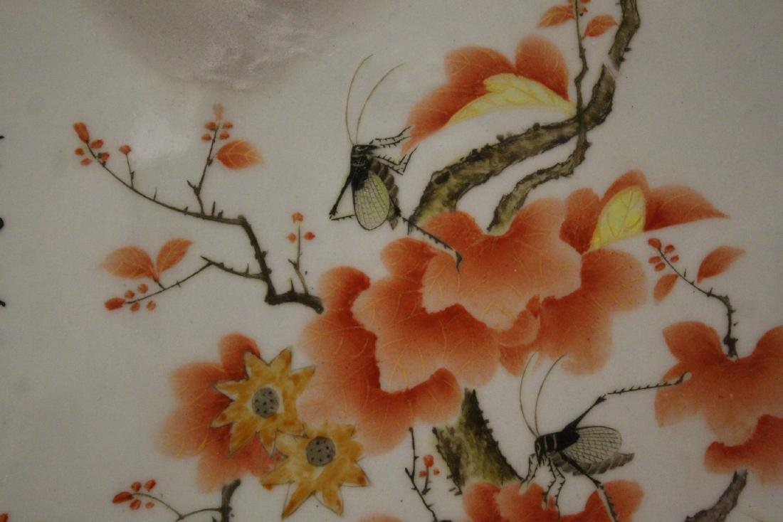 Chinese octagonal porcelain plaque - 8