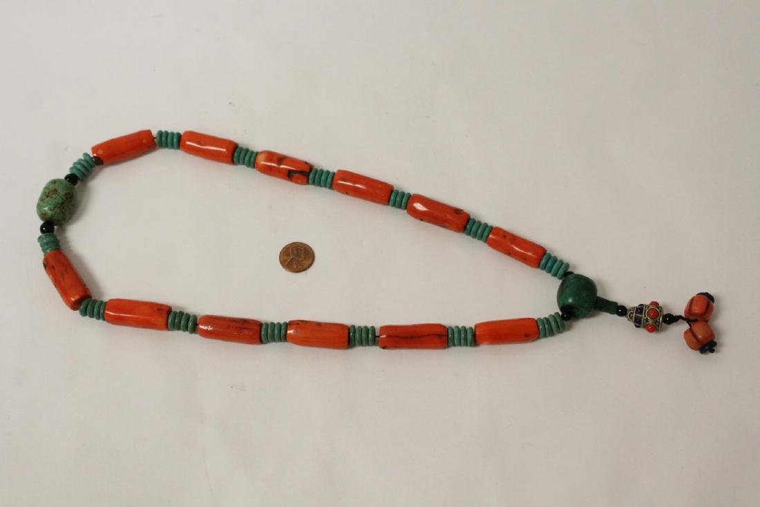 Coral like bead necklace
