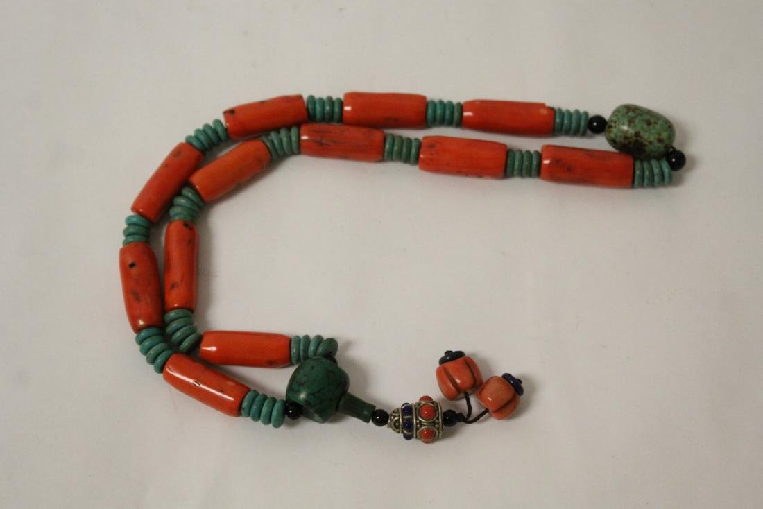 Coral like bead necklace - 2