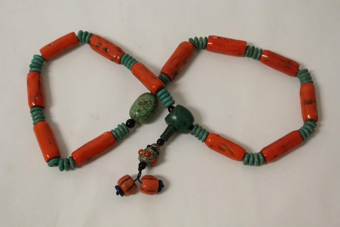 Coral like bead necklace - 3