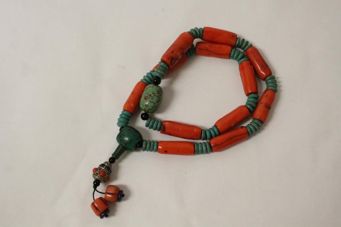 Coral like bead necklace - 4