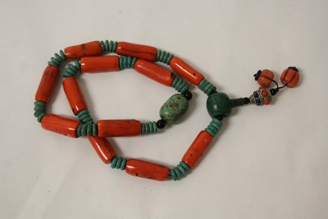 Coral like bead necklace - 5