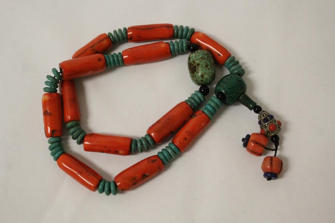 Coral like bead necklace - 6