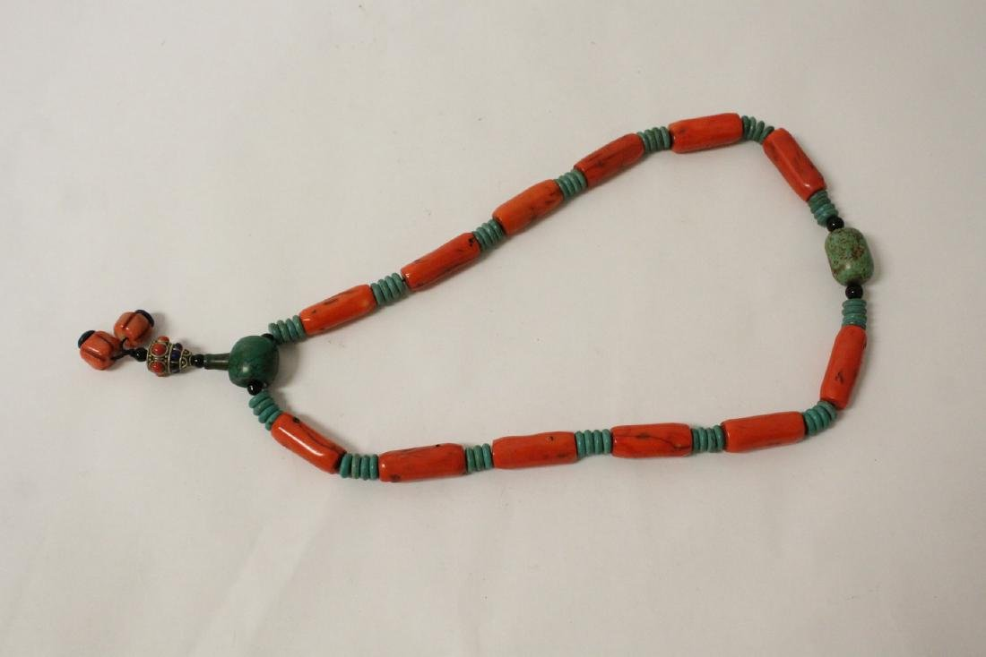 Coral like bead necklace - 8