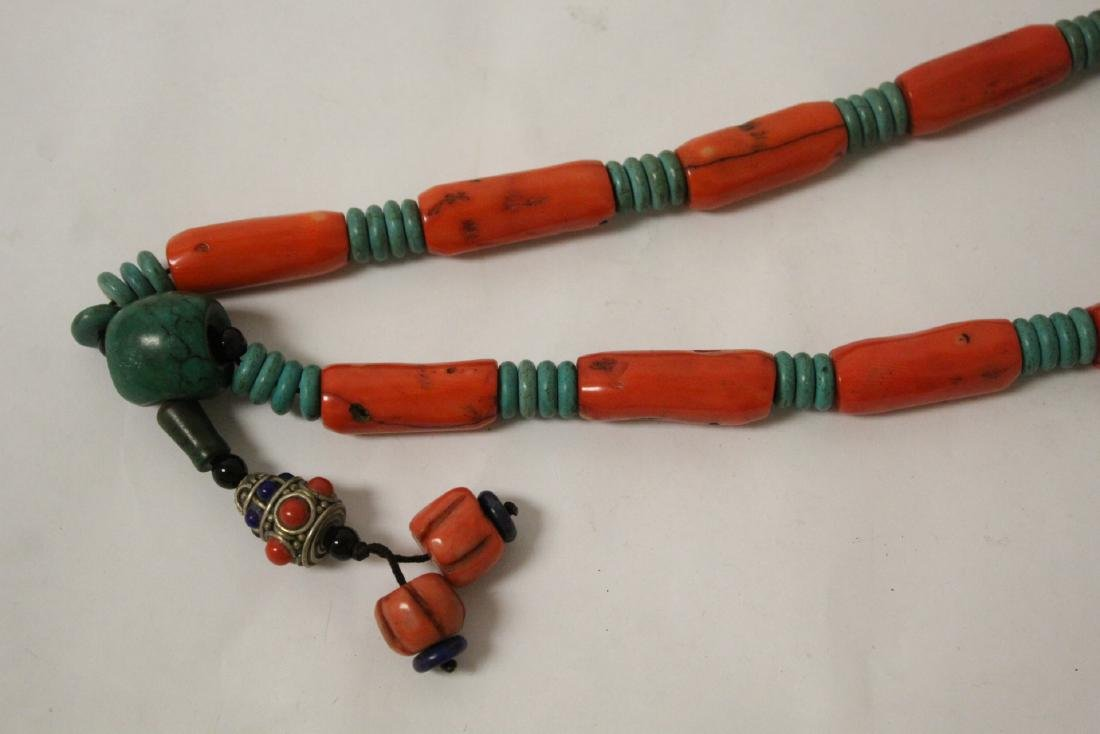 Coral like bead necklace - 9