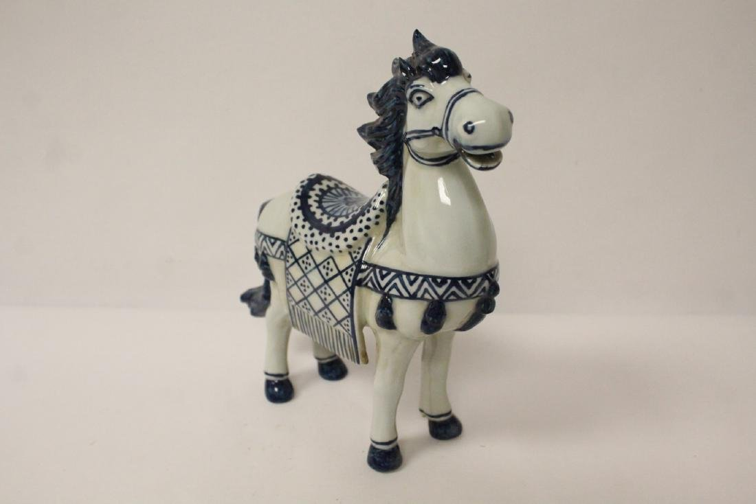 Chinese blue and white porcelain horse