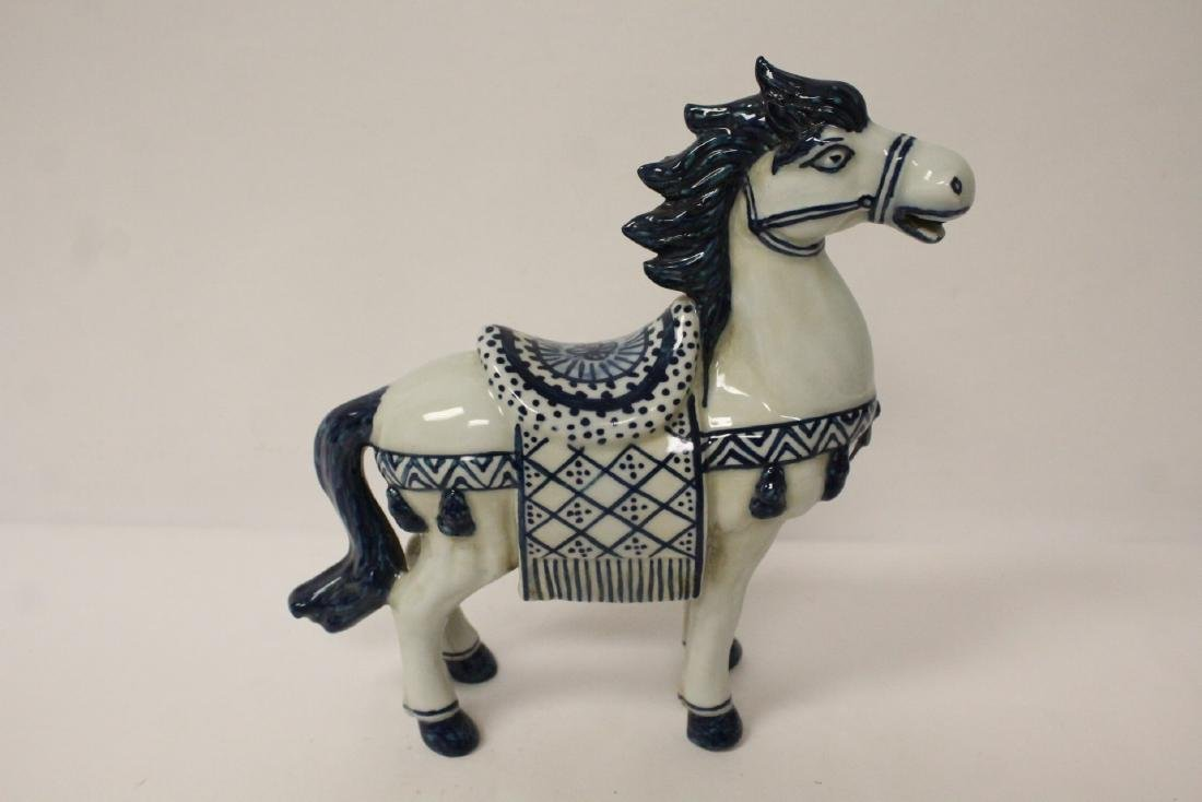 Chinese blue and white porcelain horse - 2