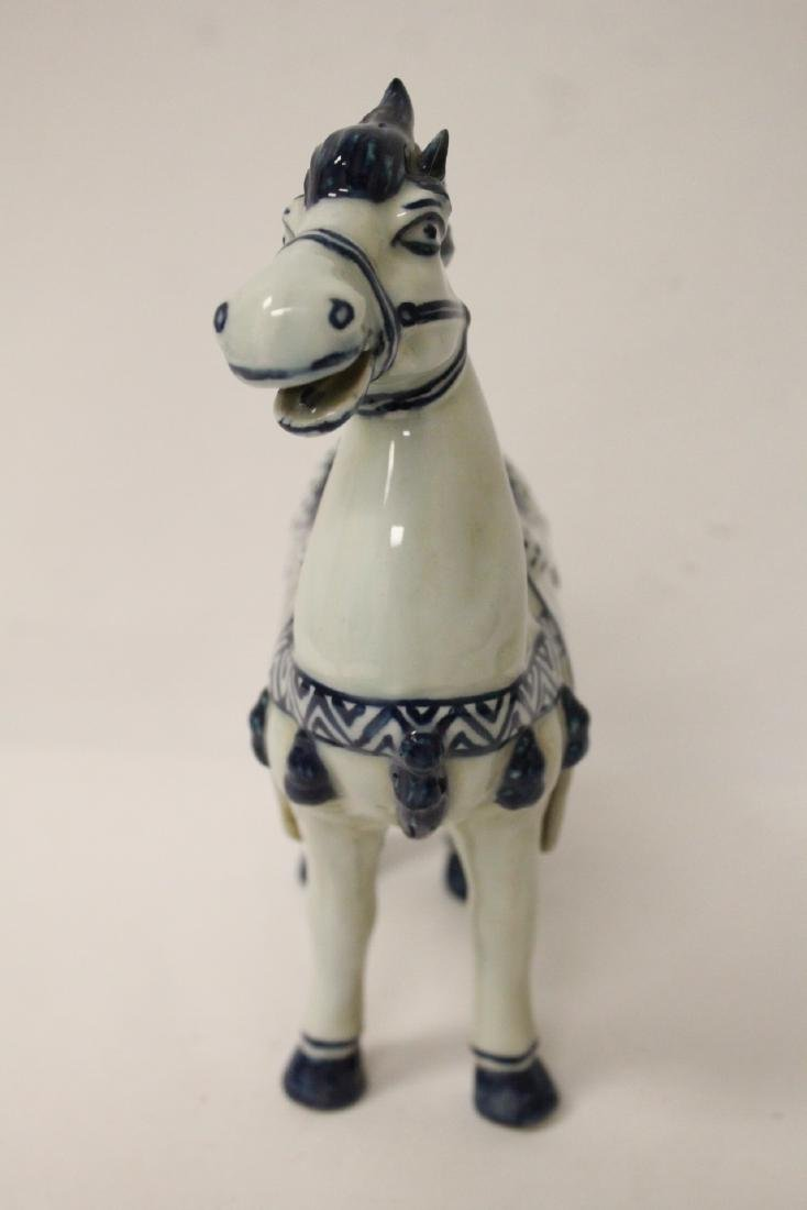 Chinese blue and white porcelain horse - 3