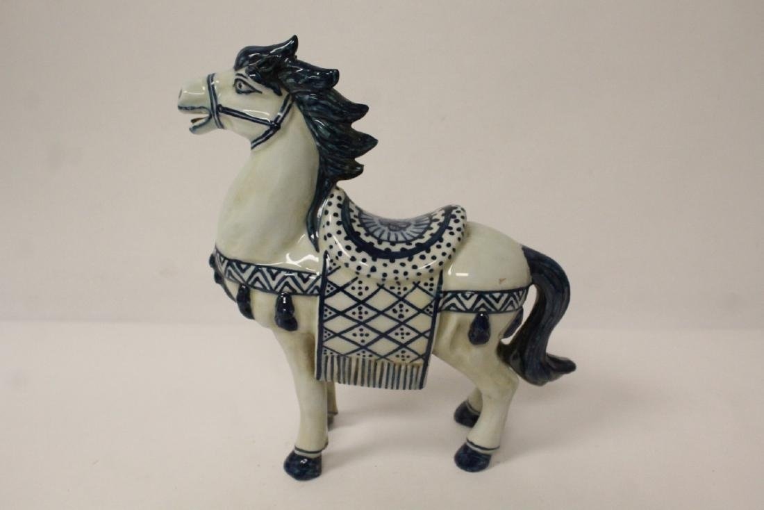 Chinese blue and white porcelain horse - 5