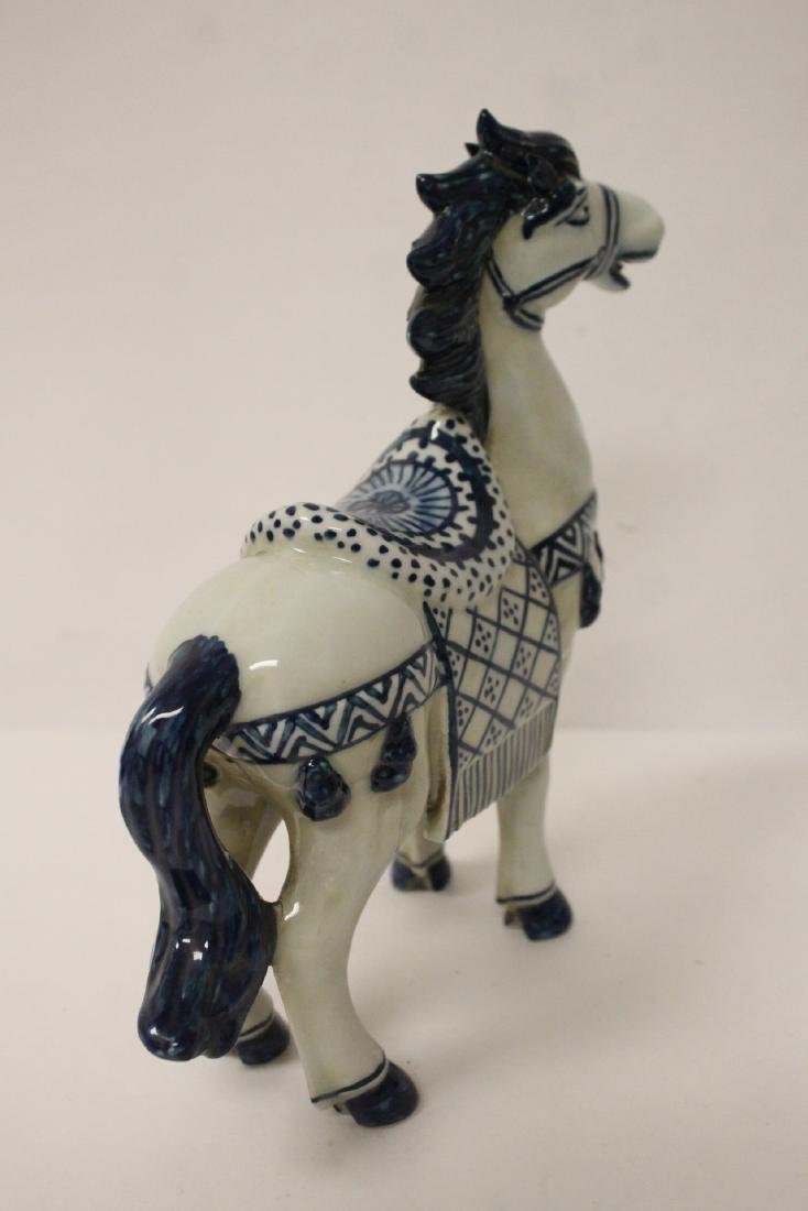Chinese blue and white porcelain horse - 7