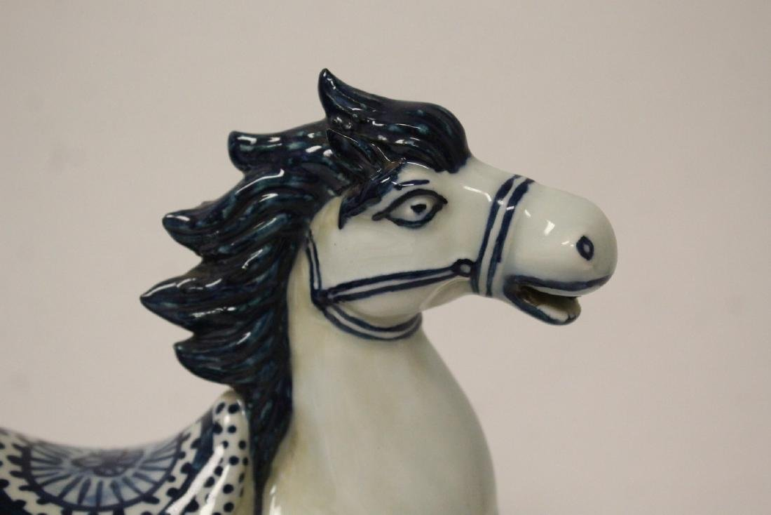 Chinese blue and white porcelain horse - 8