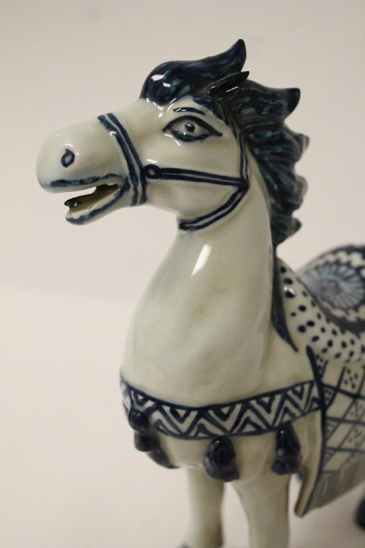 Chinese blue and white porcelain horse - 9