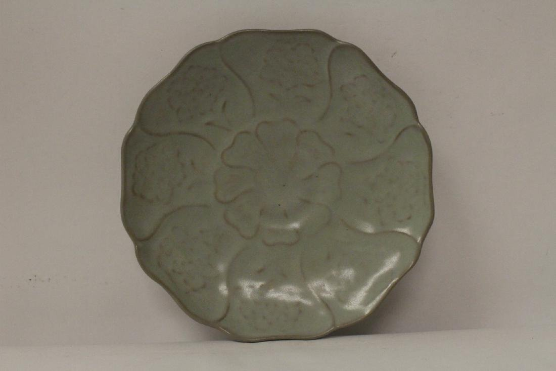 2 Chinese Song style celadon plate - 4