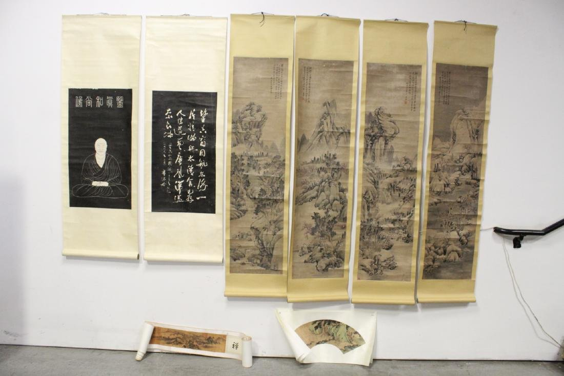 Lot of Chinese print scrolls and panels
