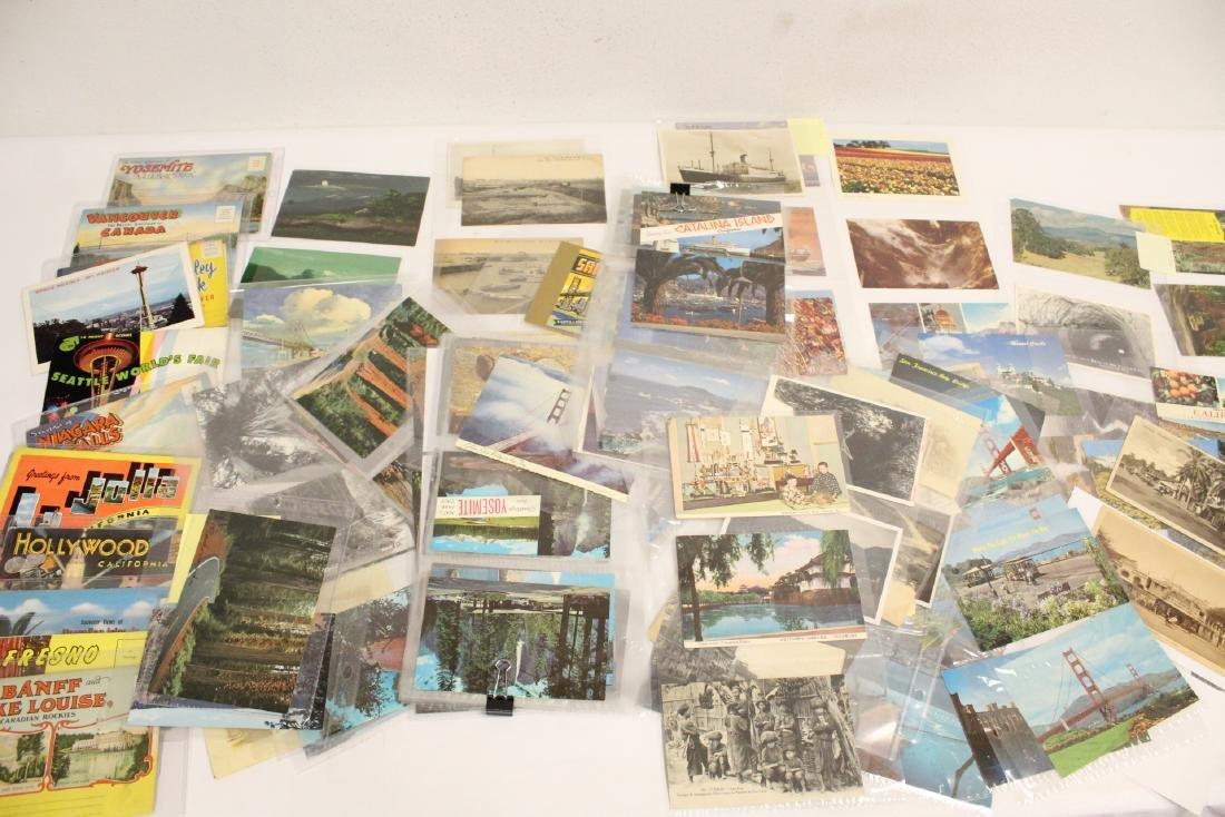 Lot of vintage postcards, mostly Asia