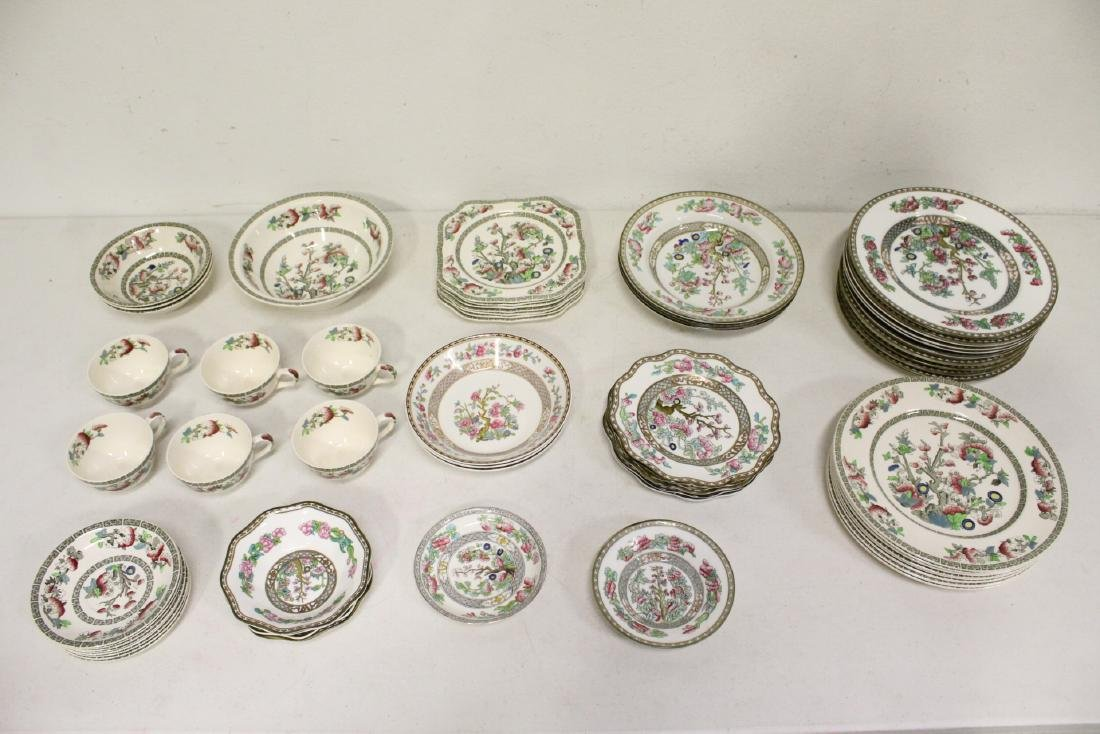 Johnson Brother china set in Indian tree pattern, total