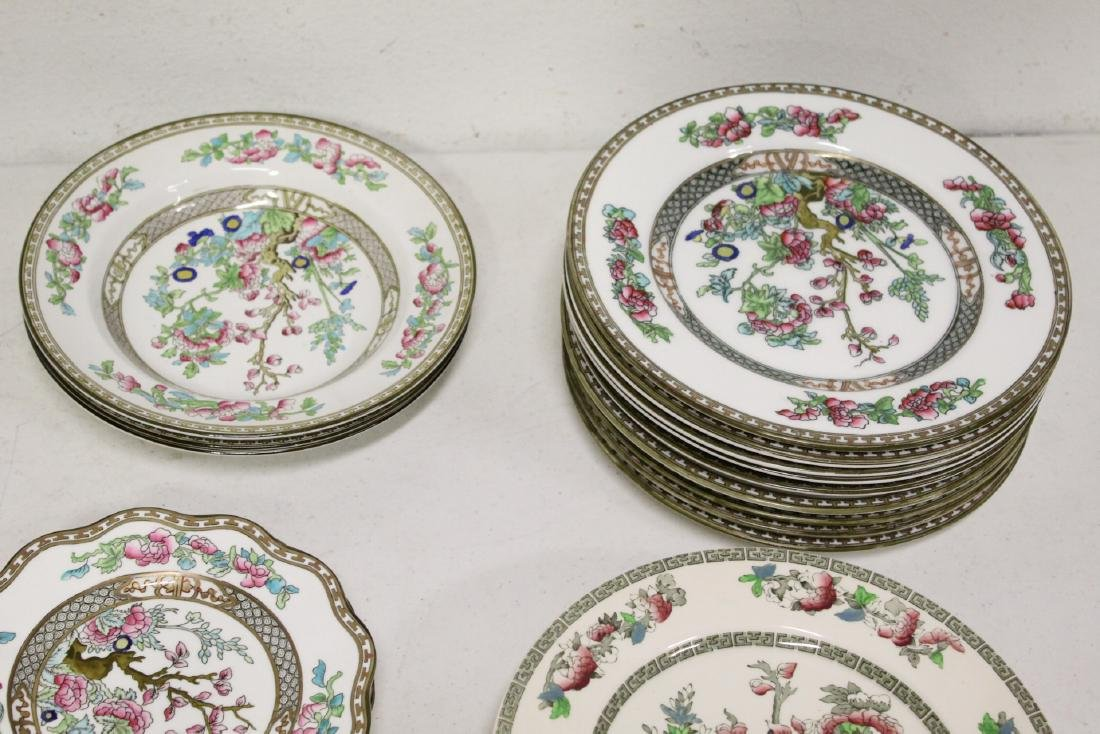 Johnson Brother china set in Indian tree pattern, total - 2