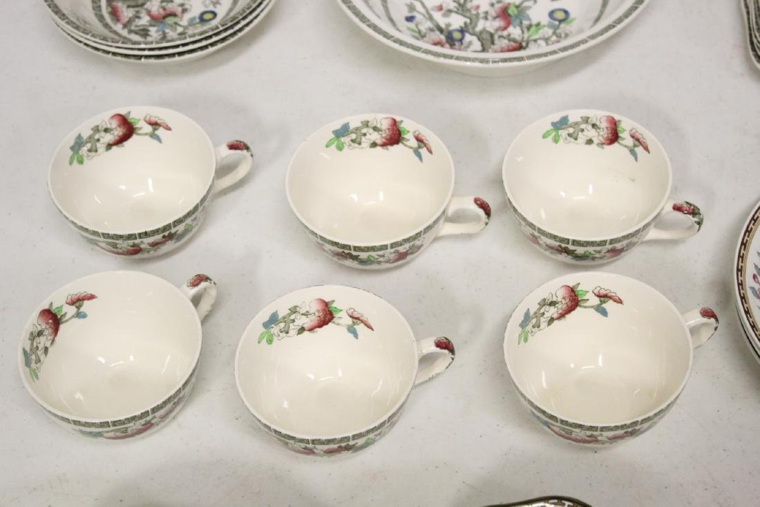 Johnson Brother china set in Indian tree pattern, total - 7