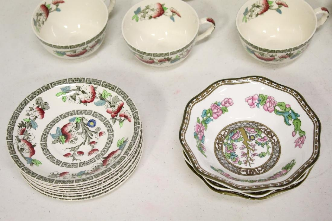 Johnson Brother china set in Indian tree pattern, total - 8
