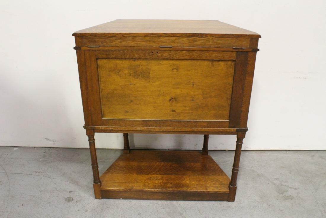 Victorian tiger oak cabinet - 8