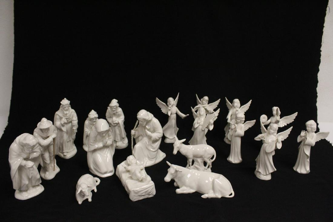 Lg early 20th c. Germany porcelain nativity set