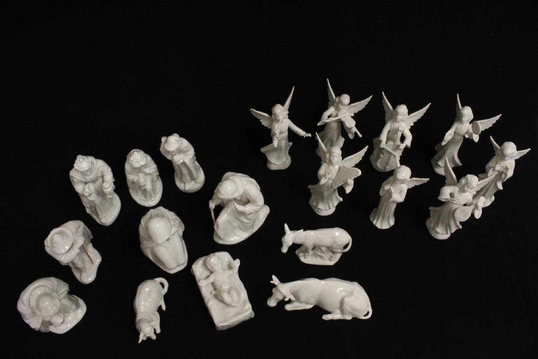 Lg early 20th c. Germany porcelain nativity set - 2