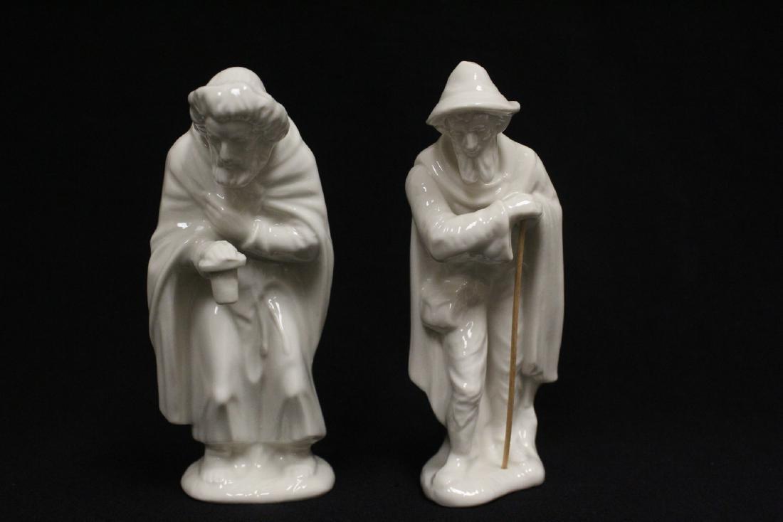 Lg early 20th c. Germany porcelain nativity set - 6