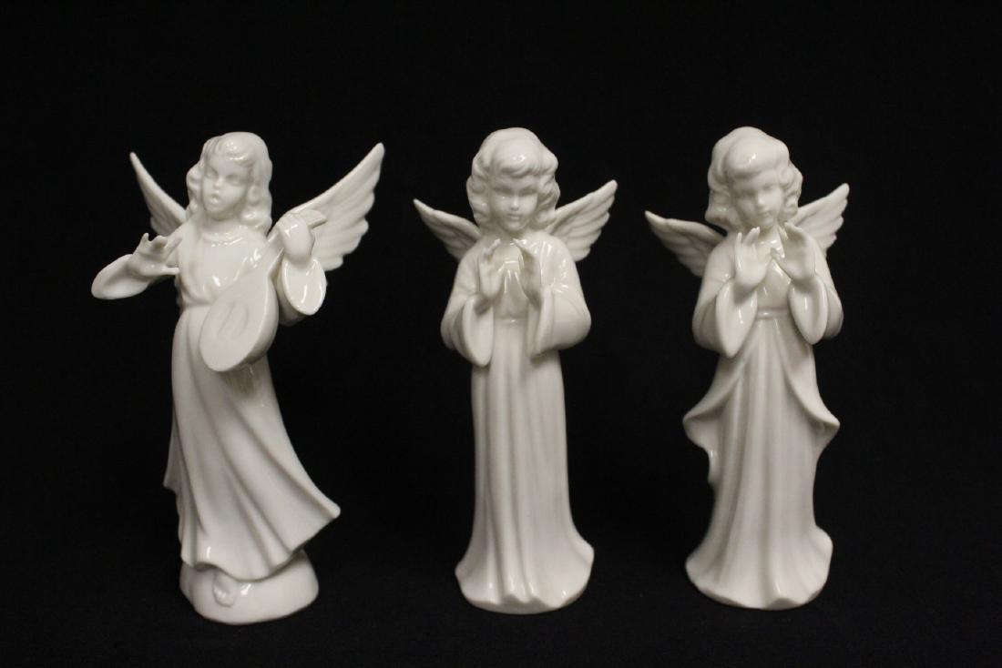 Lg early 20th c. Germany porcelain nativity set - 9