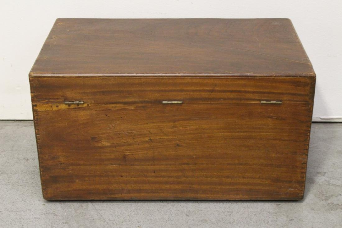 Mahogany trunk, and a painted wood trunk - 9