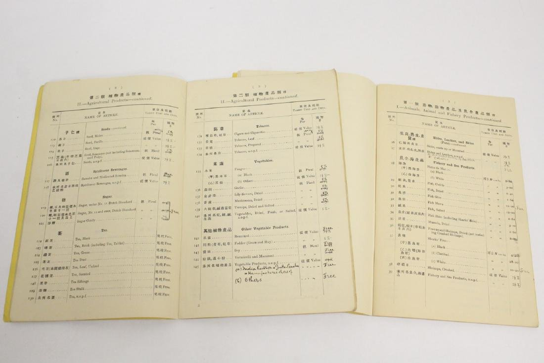 5 Chinese early 20th century custom rule books - 3